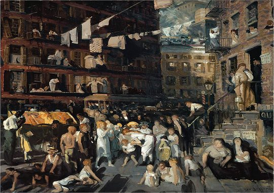 "George Bellows, ""Cliff Dwellers"" 