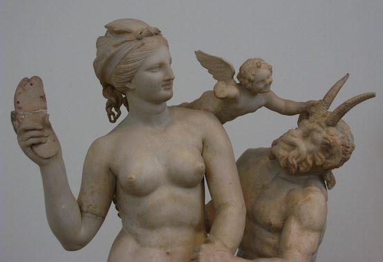 Aphrodite, Pan, and Eros, circa 100 BC | Tilemahos Efthimiadis / Flickr