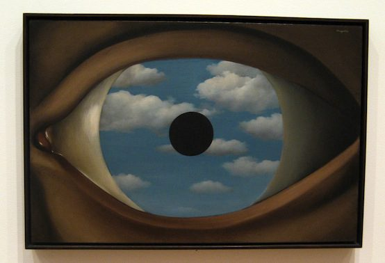 RenÈ Magritte, The False Mirror, 1928. wallyg / Flickr