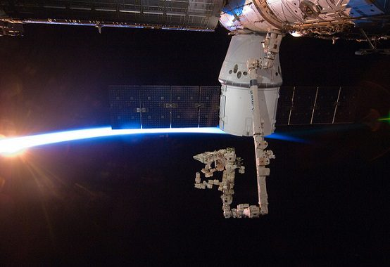 SpaceX Dragon Berths at the International Space Station NASA /  cc