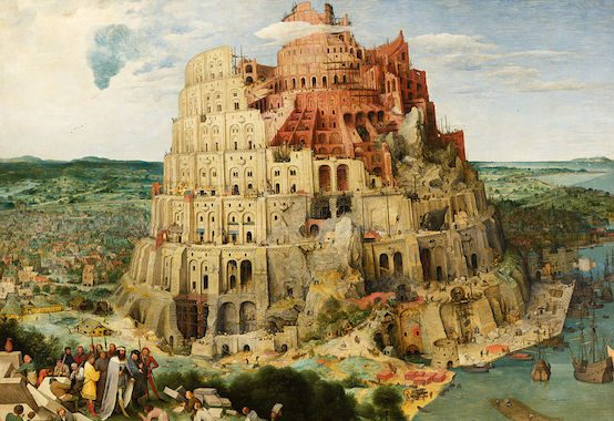 Pieter Brueghel the Elder (1526/1530–1569), Construction of the Tower of Babel, via Wikimedia Commons