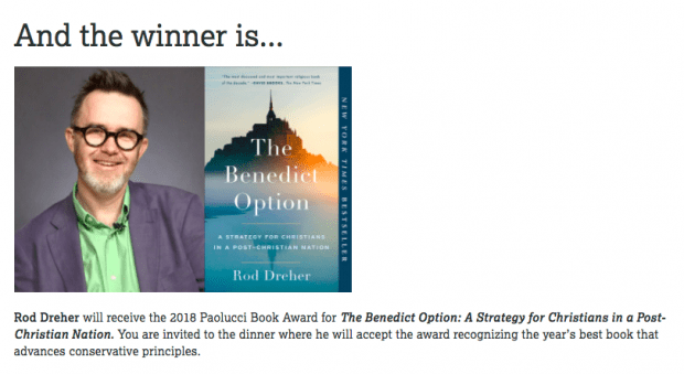 The Ben Op: Conservative Book Of The Year | The American